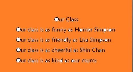 Class poem | English Teacher's Digest | Scoop.it