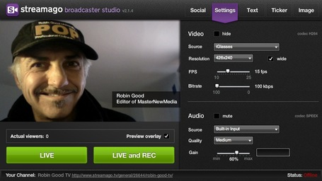 White Label Live HD Video Streaming and Playlist Broadcasting with Streamago.tv | Online Collaboration Tools | Scoop.it