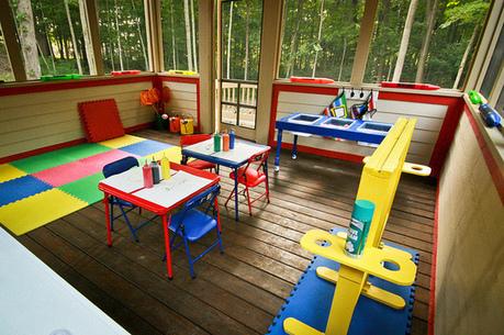 Inspiring Playspace:  Screened-In Porch Turned Preschool Room | Screened Porch Marietta | Scoop.it