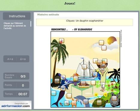 JeuxFle: Une histoire estivale. Jeu en ligne (placement sur image) et jeu des différences | FLE enfants | Scoop.it
