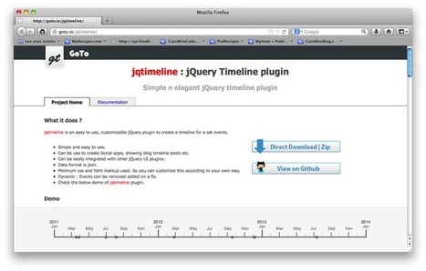 jQuery Timeline plugin | Web & Graphic Design Tricks from Clear Output | Scoop.it