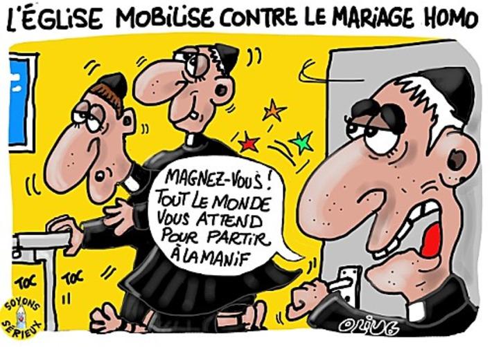 L'église se mobilise contre le mariage homosexuel | Baie d'humour | Scoop.it