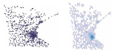 Binify for hexagon binning in Python | e-Xploration | Scoop.it