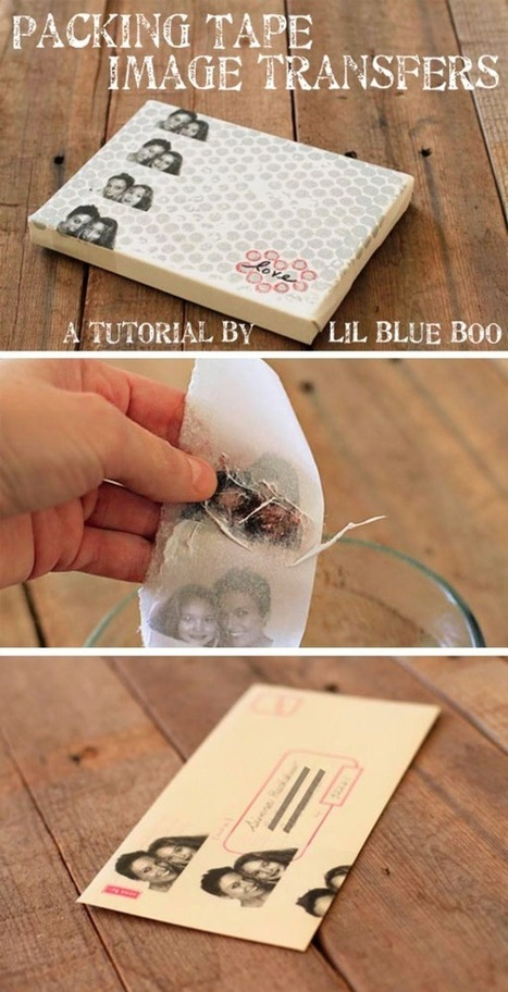 Packing Tape Image Transfers | Creativity and imagination | Scoop.it