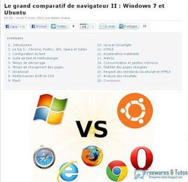 Le site du jour : comparatif des navigateurs internet   Les news du Web   Scoop.it
