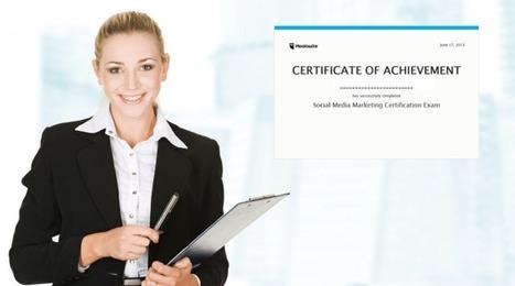 Certifiez-vous en Marketing des Médias Sociaux via le centre d'études de Hootsuite | Time to Learn | Scoop.it
