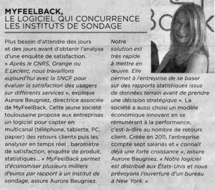 Le logiciel qui concurrence les instituts de sondage   MyFeelBack   Toulouse networks   Scoop.it
