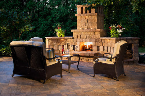 Outdoor Fireplace on Public Space | Home Interior Design | Scoop.it