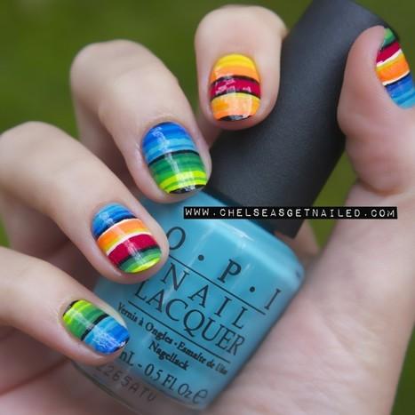 Chelsea's Get Nailed - Serape Nails | Nails, Beauty, Fashion, Hersham | Scoop.it