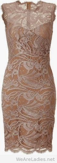 Nude short dress from lace   Pintast   Scoop.it