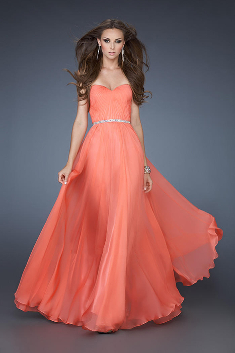 Hot Coral La Femme 18332 Long Chiffon Prom Dress [La Femme 18332] - $167.00 : La Femme Outlet, 60% Off La Femme Sale Online | gownprincess | Scoop.it