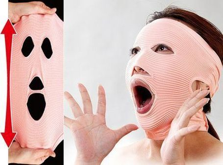 Get Rid of Wrinkles with the Creepy Facewaver Exercise Mask | Strange days indeed... | Scoop.it