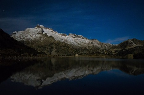 Néouvielle au clair de lune par Pierrette Cloute Delobelle | Vallée d'Aure - Pyrénées | Scoop.it