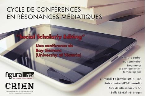 Ray Siemens à Montréal conférence Social Scholarly Editing | 14 janvier NT2-Condordia CRIHN | Philosophie actuelle | Scoop.it