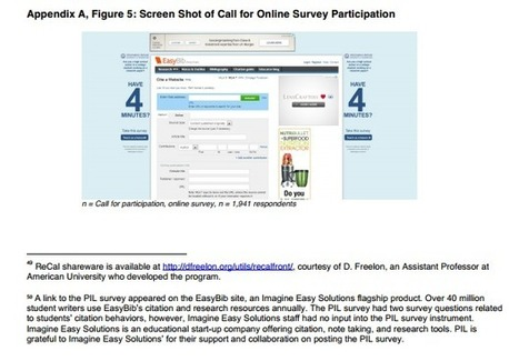 EasyBib Featured in Project Information Literacy's 2013 Study | Information Literacy | Scoop.it