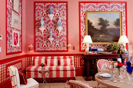 Colors and Patterns Wow at the 2015 Kips Bay Decorator Show House | Designing Interiors | Scoop.it