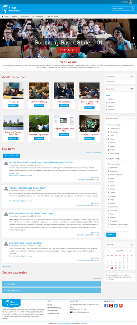 Professional Responsive Moodle Theme - Klass | tipsmoodle | Scoop.it
