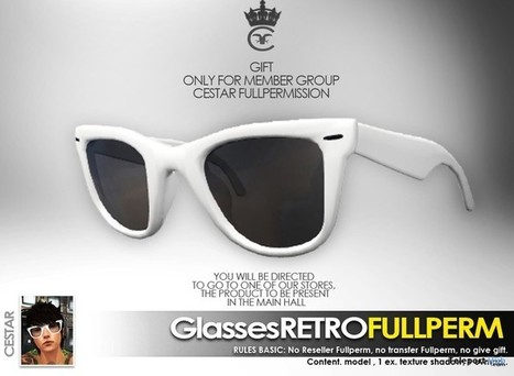Retro Glasses Full Perm Group Gift by Cestar Store | Teleport Hub - Second Life Freebies | Second Life Freebies | Scoop.it