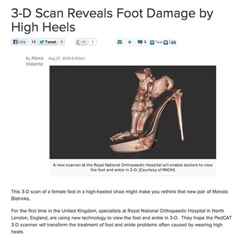 3D foot scan shows damage from high heel | Mississauga Custom Orthotics | Foot for the Brain | Scoop.it
