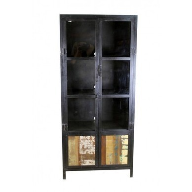 Iron and Glass Media Cabinet Rustic Desk | Iron and Glass Media Cabinet Rustic Desk | Scoop.it