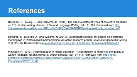 Recording oral feedback for writing assignments | Language Assessment | Scoop.it