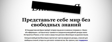 Oggi Wikipedia in Russia è oscurata | Social Media: notizie e curiosità dal web | Scoop.it