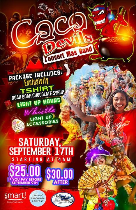 Are you ready for Chocolate Jouvert on September 17th in Belize City?  | Travel - Things to do in Belize | Scoop.it