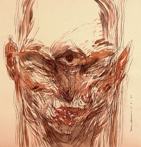 Rene Almanza / Stranger Series / Watercolour - La Fortuna Art   grafisme   Scoop.it