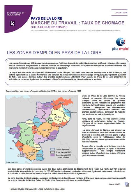 Observatoire régional de l'emploi > Un taux de chômage stable au 1er trimestre 2016 en Pays de la Loire   Observer les Pays de la Loire   Scoop.it