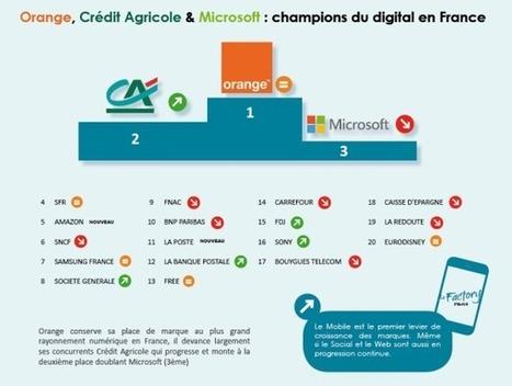 Infographie : les 100 marques avec le plus fort rayonnement numérique | Formations & Web | Scoop.it