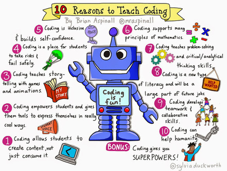 10 Reasons to Teach Coding – #Sketchnote by @sylviaduckworth | Learning about Technology and Education | Scoop.it