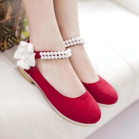 Korean style fascinating princess red  flat shoes | Fashion Zone | Scoop.it