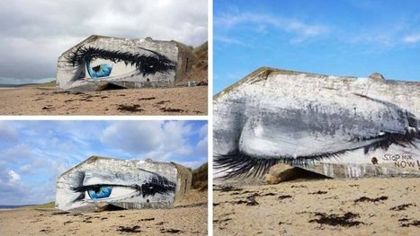 Le fameux oeil sur un bunker normand s'est soudainement fermé ! Et on sait pourquoi. | Art et Publicité | Scoop.it