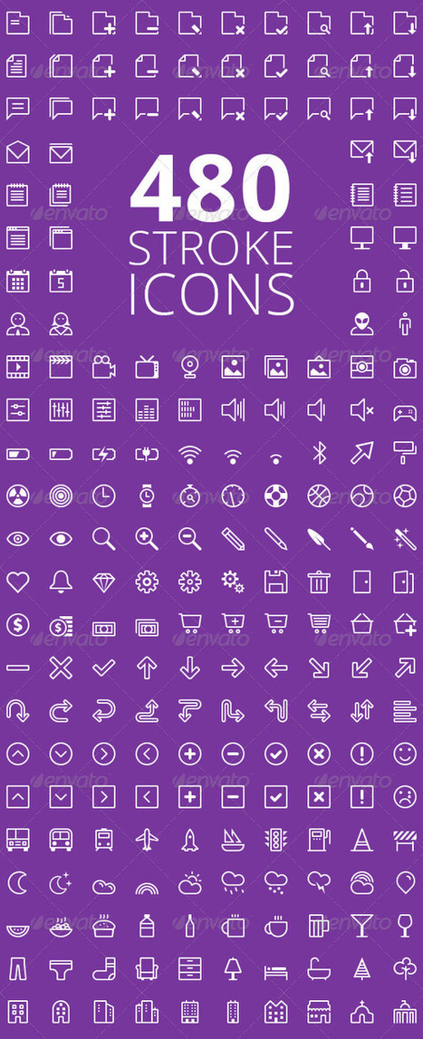 480 Stroke Vector Icons (Icons) | GFX Database | GFX Download | Scoop.it