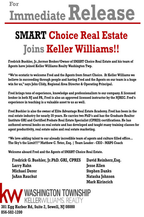 For IMMEDIATE Release: SMART Choice Real Estate Joins Keller Williams! | SmartChoiceRealEstate | Scoop.it