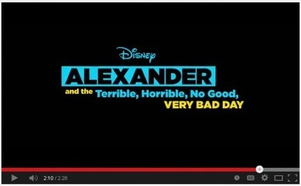 Books on Film: Watch the Trailer for Alexander and the Terrible, Horrible, No Good, Very Bad Day — @100scopenotes 100 Scope Notes | Amazing Book Trailers | Scoop.it