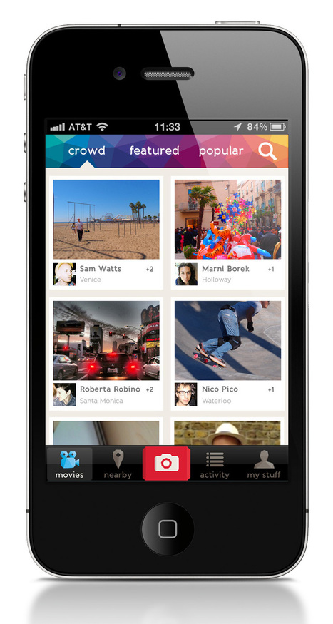 An iPhone app for real social video creation and sharing | Post-Sapiens, les êtres technologiques | Scoop.it