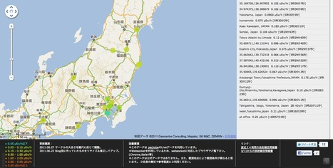リアルタイム放射線線量マップ | Mapping & participating: Fukushima radiation maps | Scoop.it