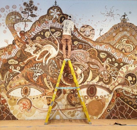 A New Large-Scale Mud Mural by Yusuke Asai Sprawls through Rice Gallery | Culture and Fun - Art | Scoop.it