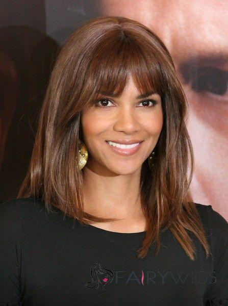 Sweet Medium Straight Brown African American Wigs for Women | African American Wigs | Scoop.it