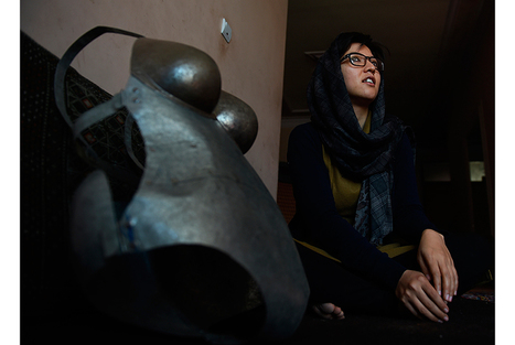 Young Afghan artist Kubra Khademi in hiding after sexual harassment protest in streets of Kabul   Cultural Geography   Scoop.it