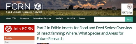 Part 2 in Edible Insects for Food and Feed Series: Overview of insect farming; Where, What Species and Areas for Future Research | Food Climate Research Network (FCRN) | Entomophagy: Edible Insects and the Future of Food | Scoop.it