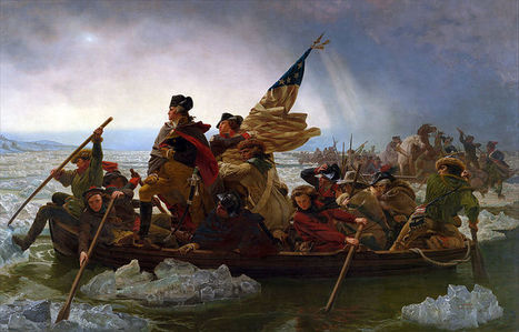 "Detailed image of George ""Washington Crossing the Delaware"" 