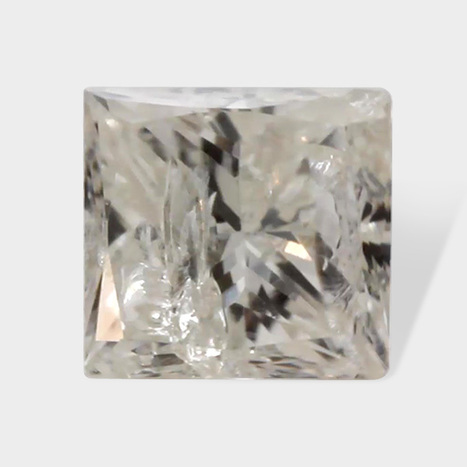 0.11 ctw 2 72 x 2 59 mm H White Color I 2 Clarity Princess Cut Real Diamond | Loose Diamonds | Scoop.it