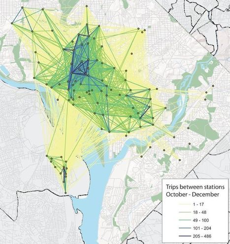 Bike-Share GPS Data to Help Plan NYC Network | Developing Spatial Literacy | Scoop.it