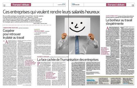 Ces entreprises qui veulent rendre leurs salariés heureux - dossier La Croix   Société 2.0   Scoop.it