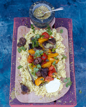 quick lamb tagine, pan-fried aubergine & cumin crunch - Jamie Oliver   Cocina de autor   Scoop.it