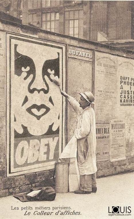 When modern Street Art invades Paris in the 1900s… | Graphisme & Design | Scoop.it