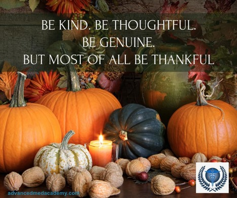 Why be Thankful not just on Thanksgiving. ~ via Advanced Med Academy | Health & Life Extension | Scoop.it