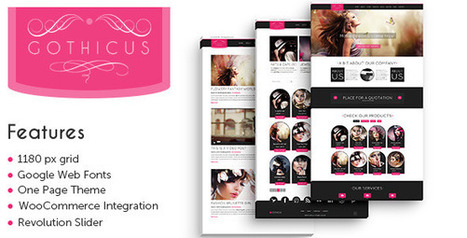 Gothicus – A One Page WooCommerce WordPress Theme Download | Best Wordpress Themes | Scoop.it